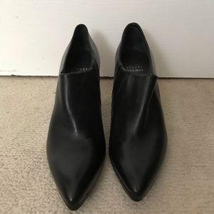 Stuart Weitzman black low ankle bootie heels